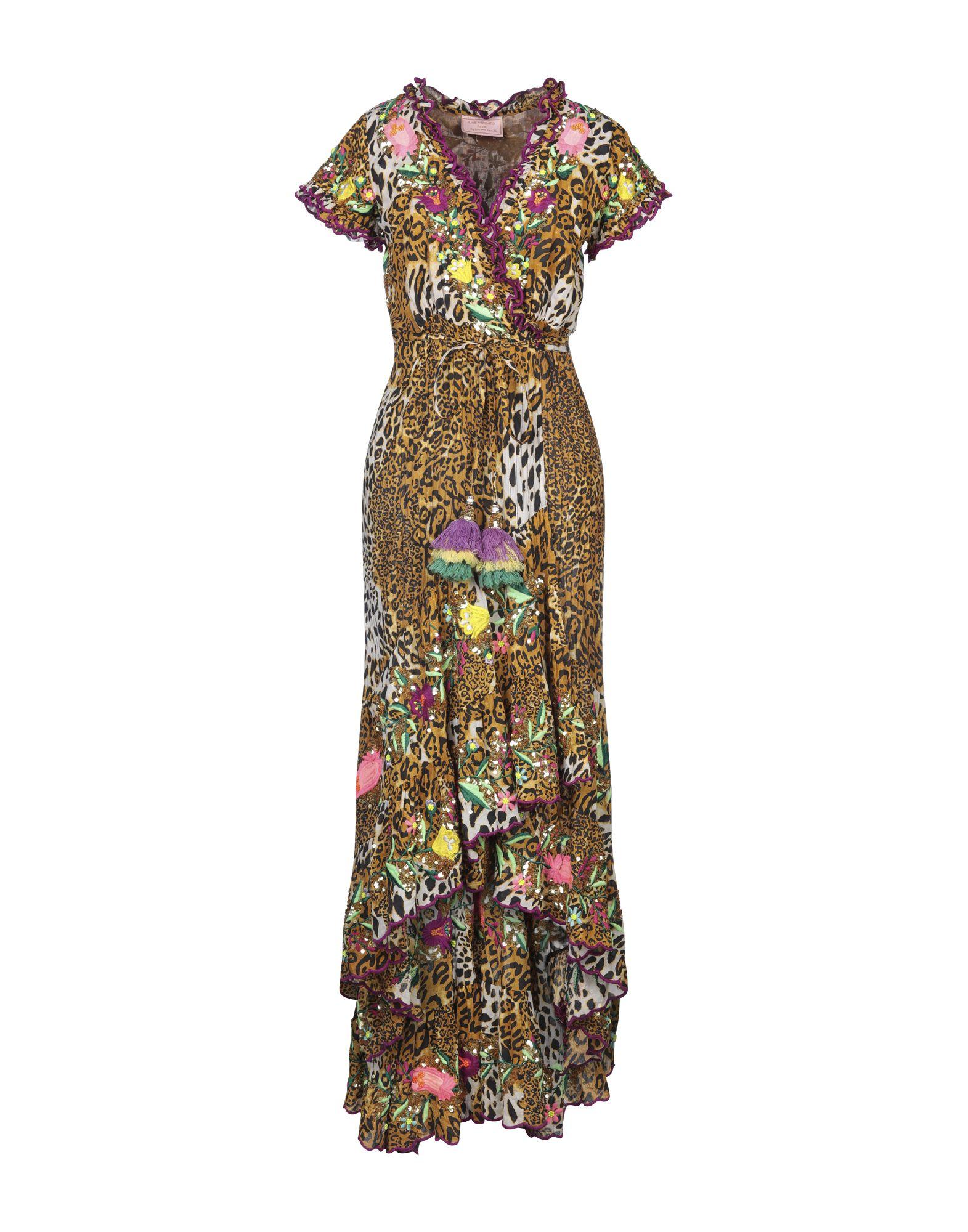 《セール開催中》LAS NOCHES IBIZA by ERIC & JACK レディース ロングワンピース&ドレス キャメル M コットン 100%