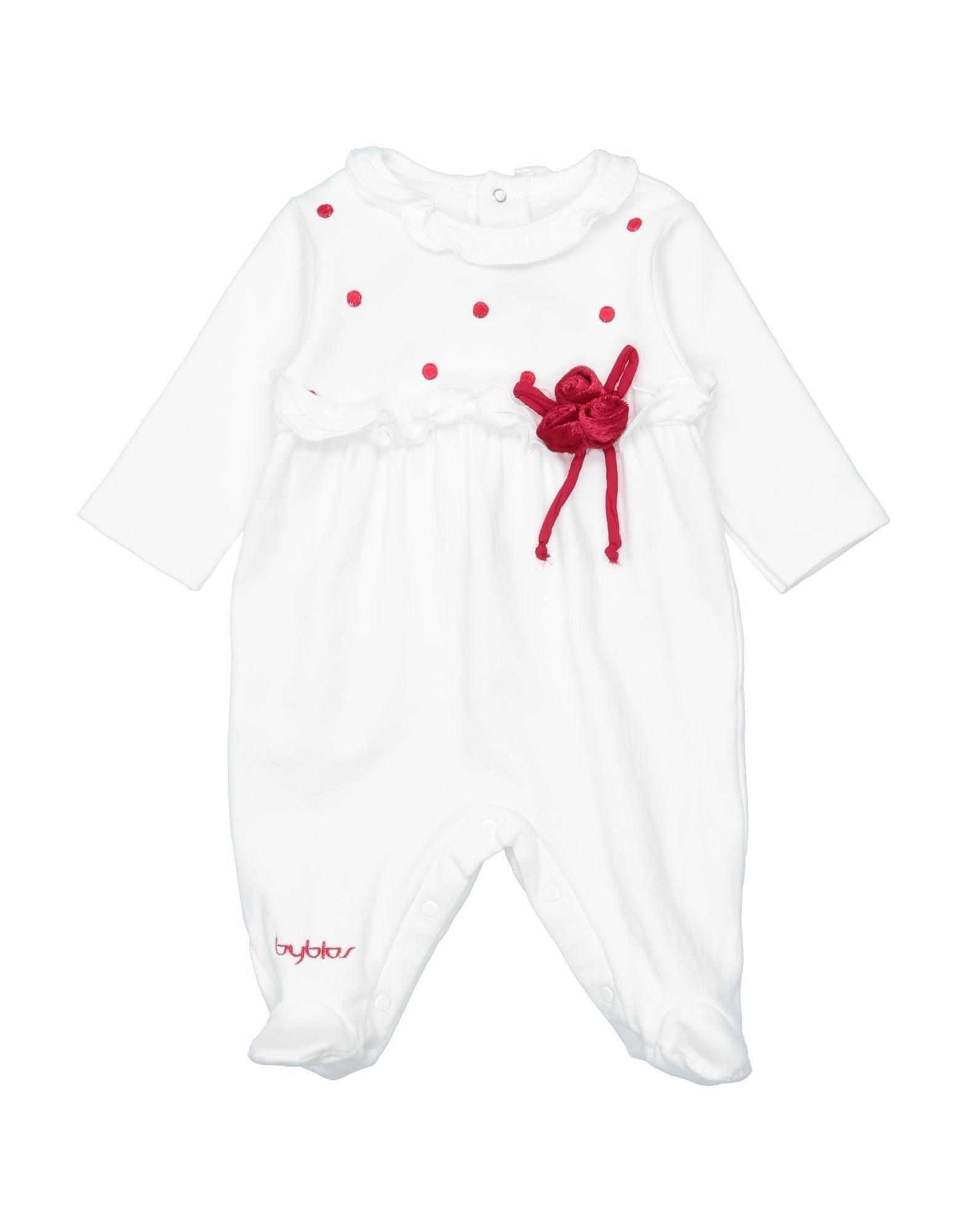 YOOX.COM(ユークス)《セール開催中》BYBLOS ガールズ 0-24 ヶ月 乳幼児用ロンパース ホワイト 1 コットン 94% / ポリウレタン 6%