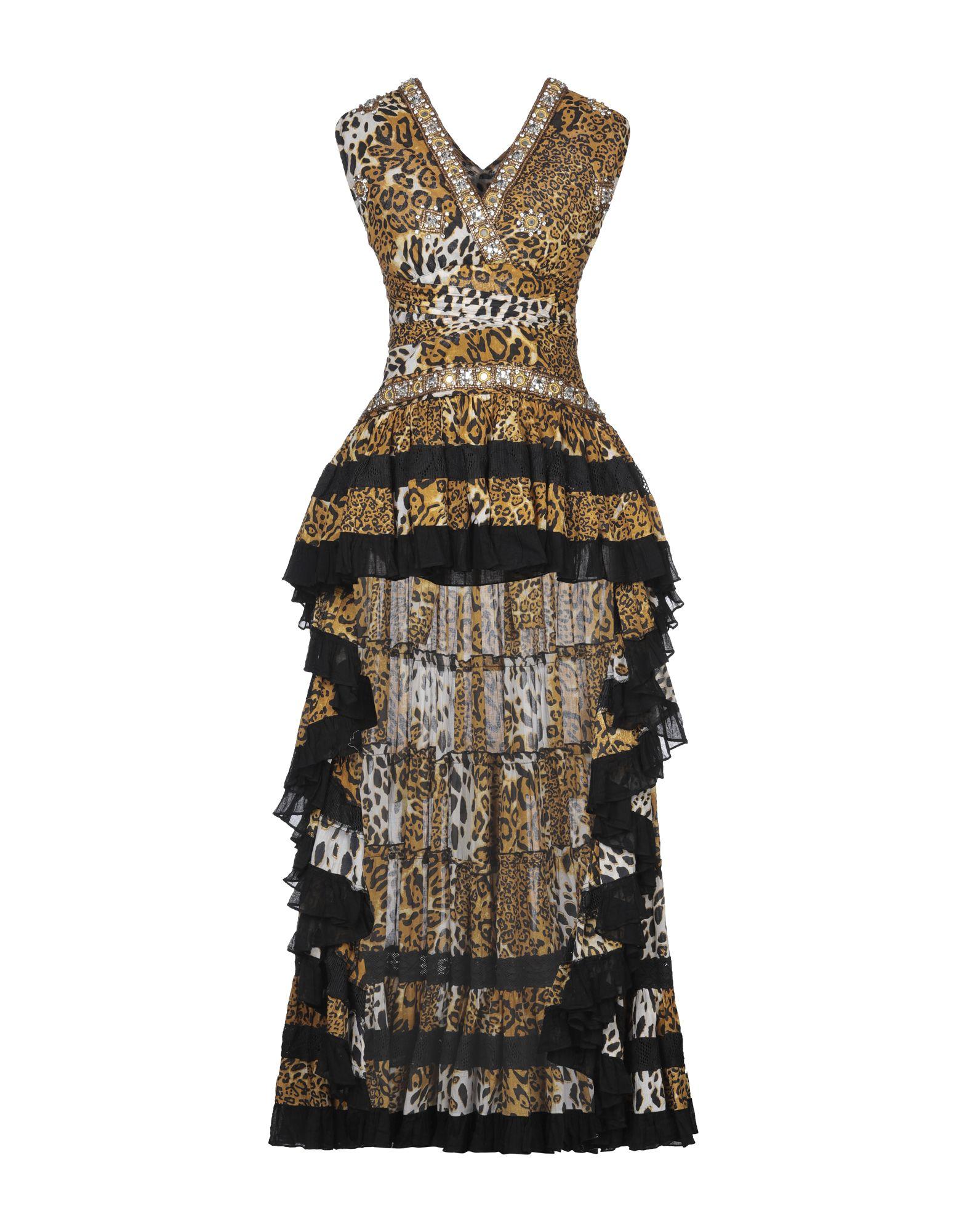 《セール開催中》LAS NOCHES IBIZA by ERIC & JACK レディース ミニワンピース&ドレス ベージュ S コットン 100%