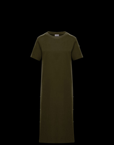 DRESS Military green Dresses Woman