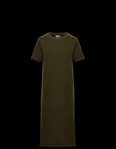 VESTIDO Verde militar Vestidos Mujer