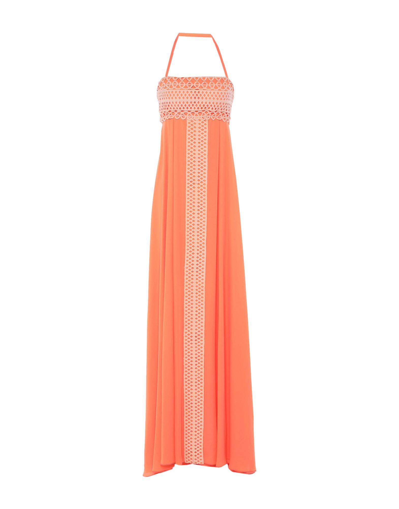 《セール開催中》MAESTRI レディース ロングワンピース&ドレス オレンジ 10 ポリエステル 100%