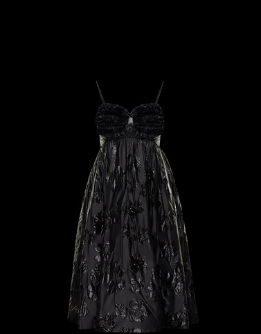 DRESS Black 4 Moncler Simone Rocha Woman
