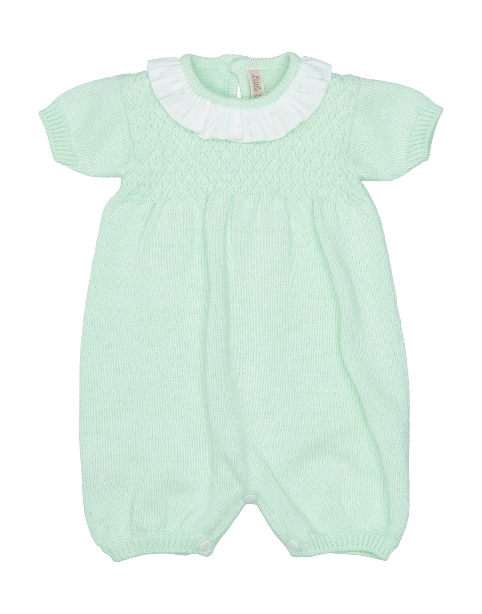 YOOX.COM(ユークス)《セール開催中》LITTLE BEAR ガールズ 0-24 ヶ月 乳幼児用ロンパース ライトグリーン 1 コットン 100%
