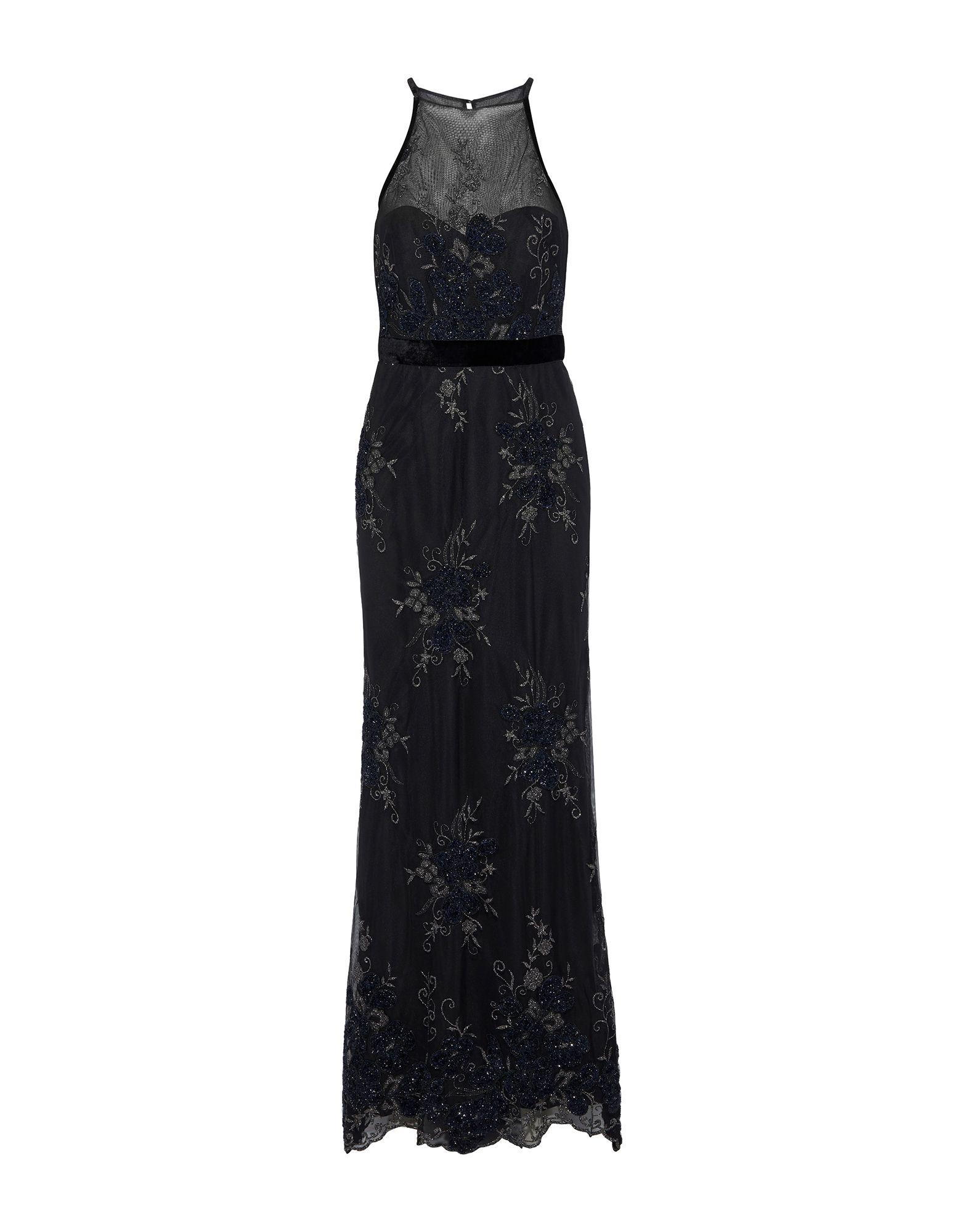 《セール開催中》BADGLEY MISCHKA レディース ロングワンピース&ドレス ブラック 0 ポリエステル 100%