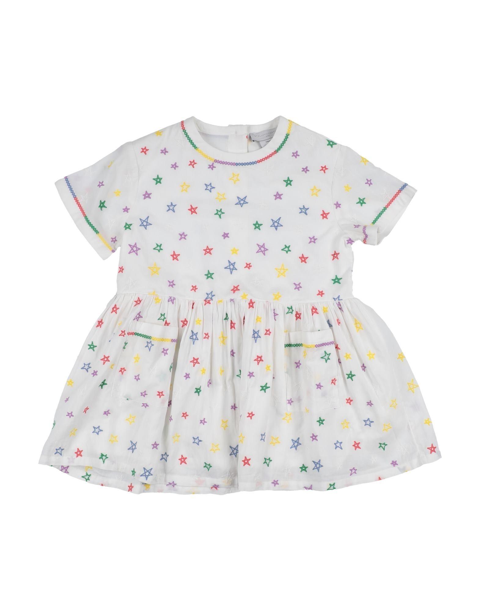 《セール開催中》STELLA McCARTNEY KIDS ガールズ 3-8 歳 ワンピース&ドレス ホワイト 3 コットン 100% / ポリエステル
