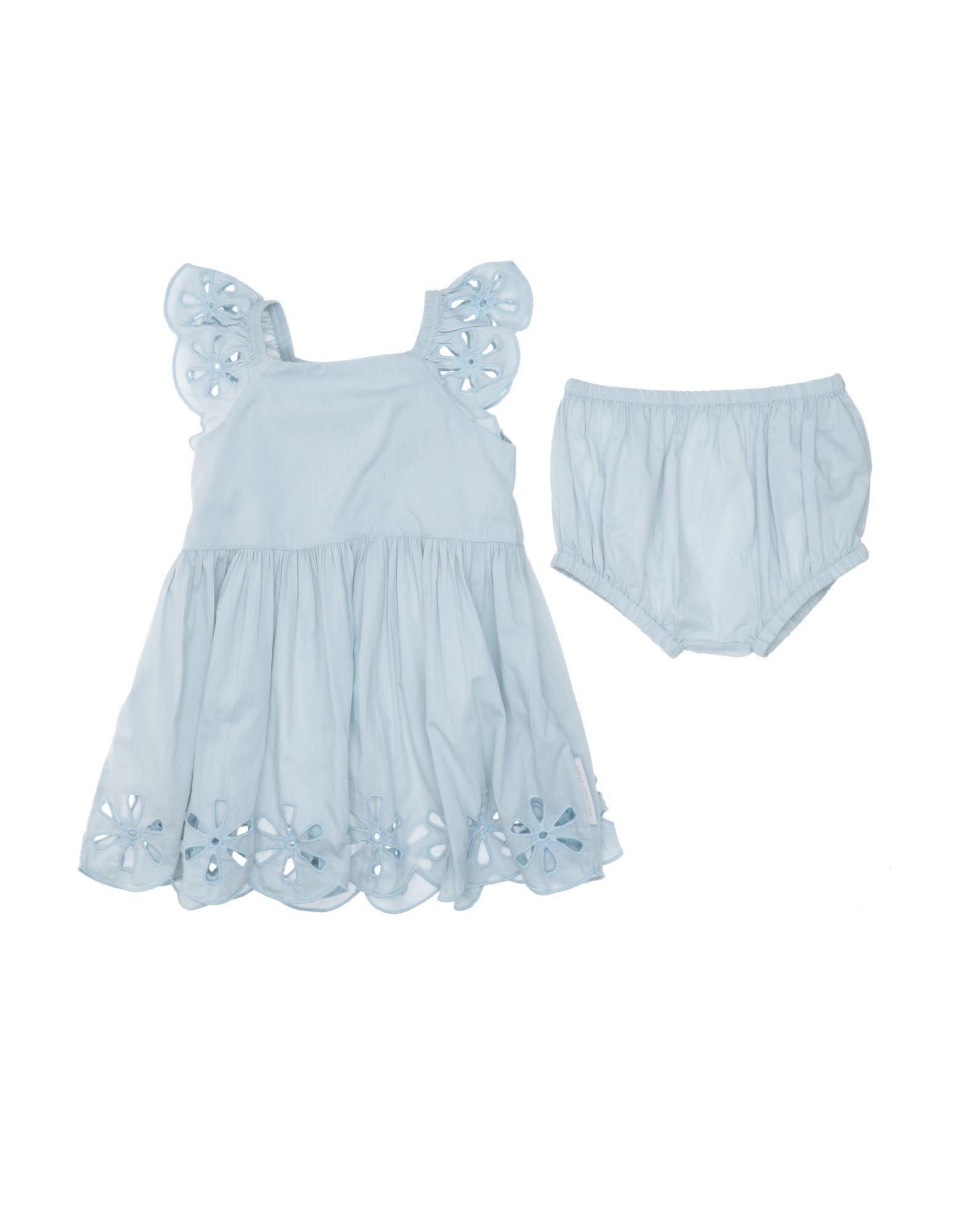 《セール開催中》STELLA McCARTNEY KIDS ガールズ 0-24 ヶ月 ワンピース・ドレス スカイブルー 12 コットン 100%