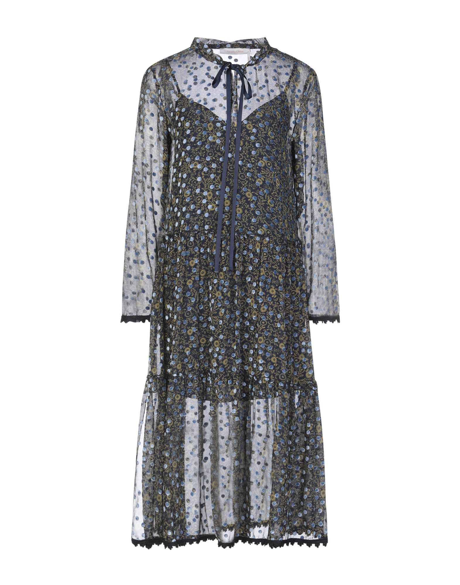 SEE BY CHLOÉ Платье миди see by chloé комбинация