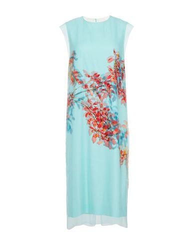 Платье длиной 3/4 DRIES VAN NOTEN. Цвет: светло-зеленый
