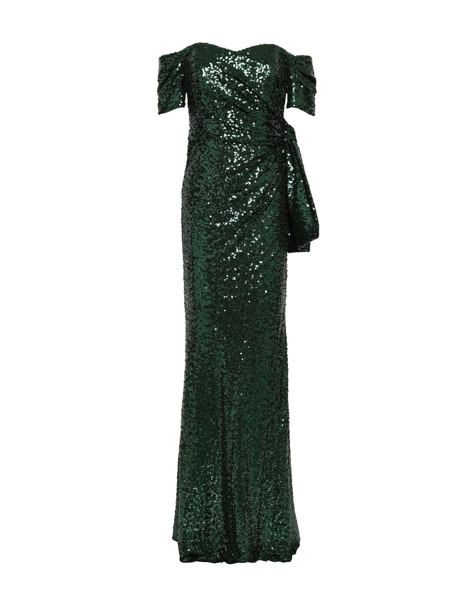 《セール開催中》BADGLEY MISCHKA レディース ロングワンピース&ドレス ダークグリーン 4 ナイロン 100% / ポリエステル