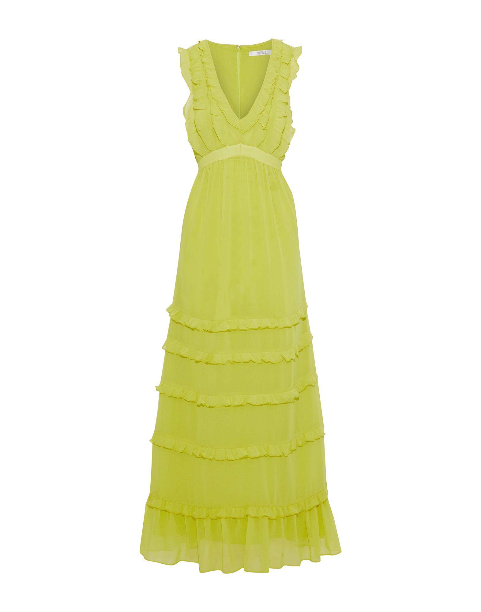 《セール開催中》BADGLEY MISCHKA レディース ロングワンピース&ドレス ビタミングリーン 8 ポリエステル 100%