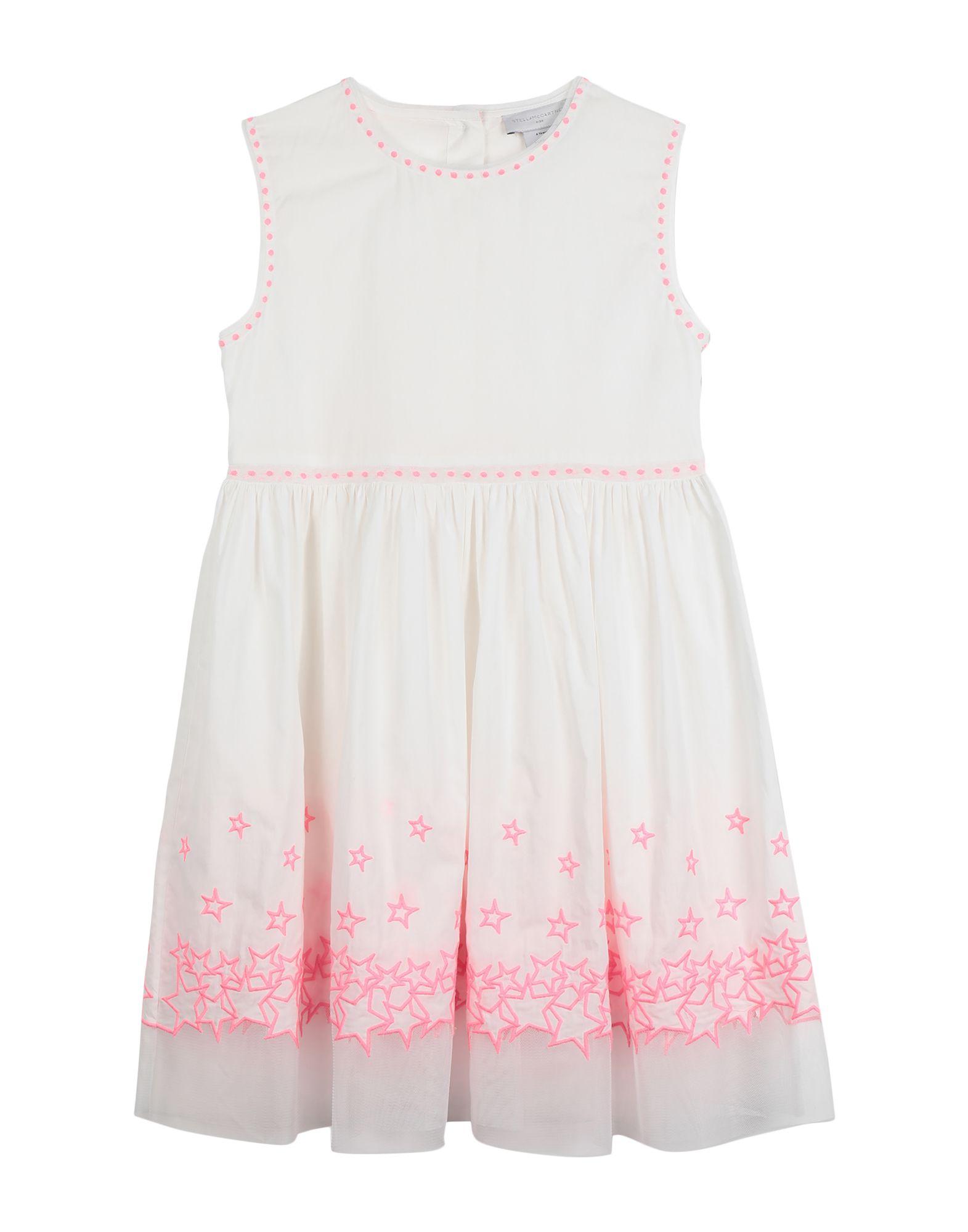《セール開催中》STELLA McCARTNEY KIDS ガールズ 9-16 歳 ワンピース&ドレス ホワイト 10 コットン 100% / ポリエステル