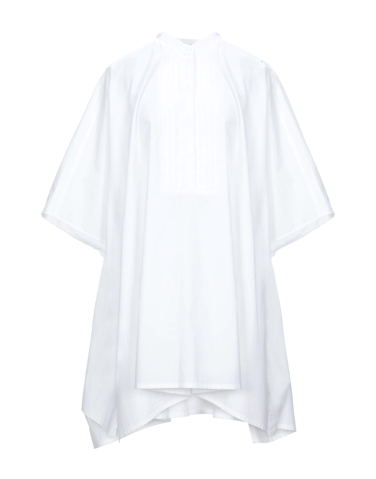 MM6 MAISON MARGIELA Kaftans. plain weave, solid color, 3/4 length sleeves, mandarin collar, unlined, folds, no pockets. 100% Cotton