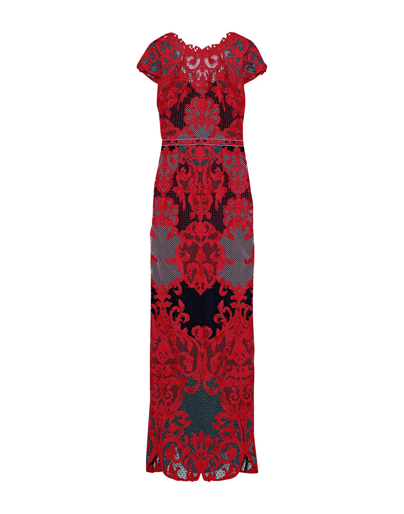 《セール開催中》MARCHESA NOTTE レディース ロングワンピース&ドレス レッド 12 ポリエステル 100% / ナイロン