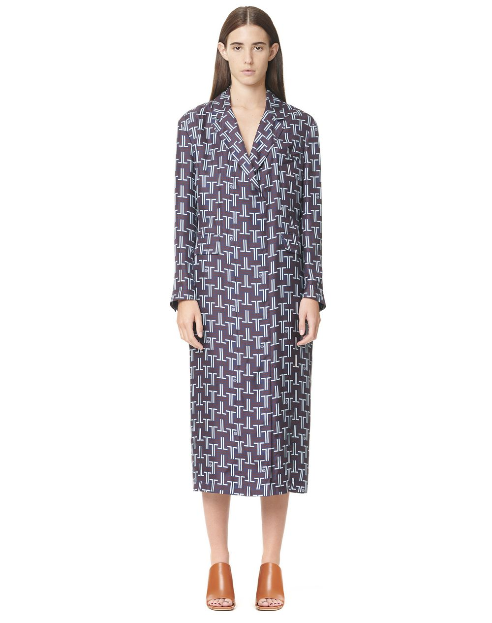 PRINTED LONG COAT DRESS - Lanvin