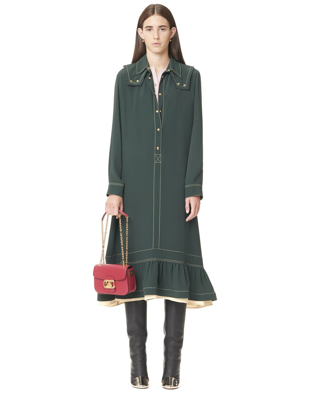 GATHERED SHIRT DRESS - Lanvin