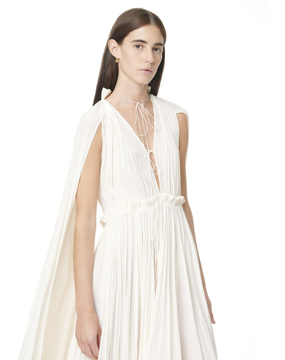 LONG LONG-SLEEVED RUFFLE GOWN - Lanvin