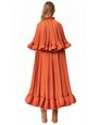 LANVIN Long dress Woman LONG SHORT-SLEEVED RUFFLE GOWN f