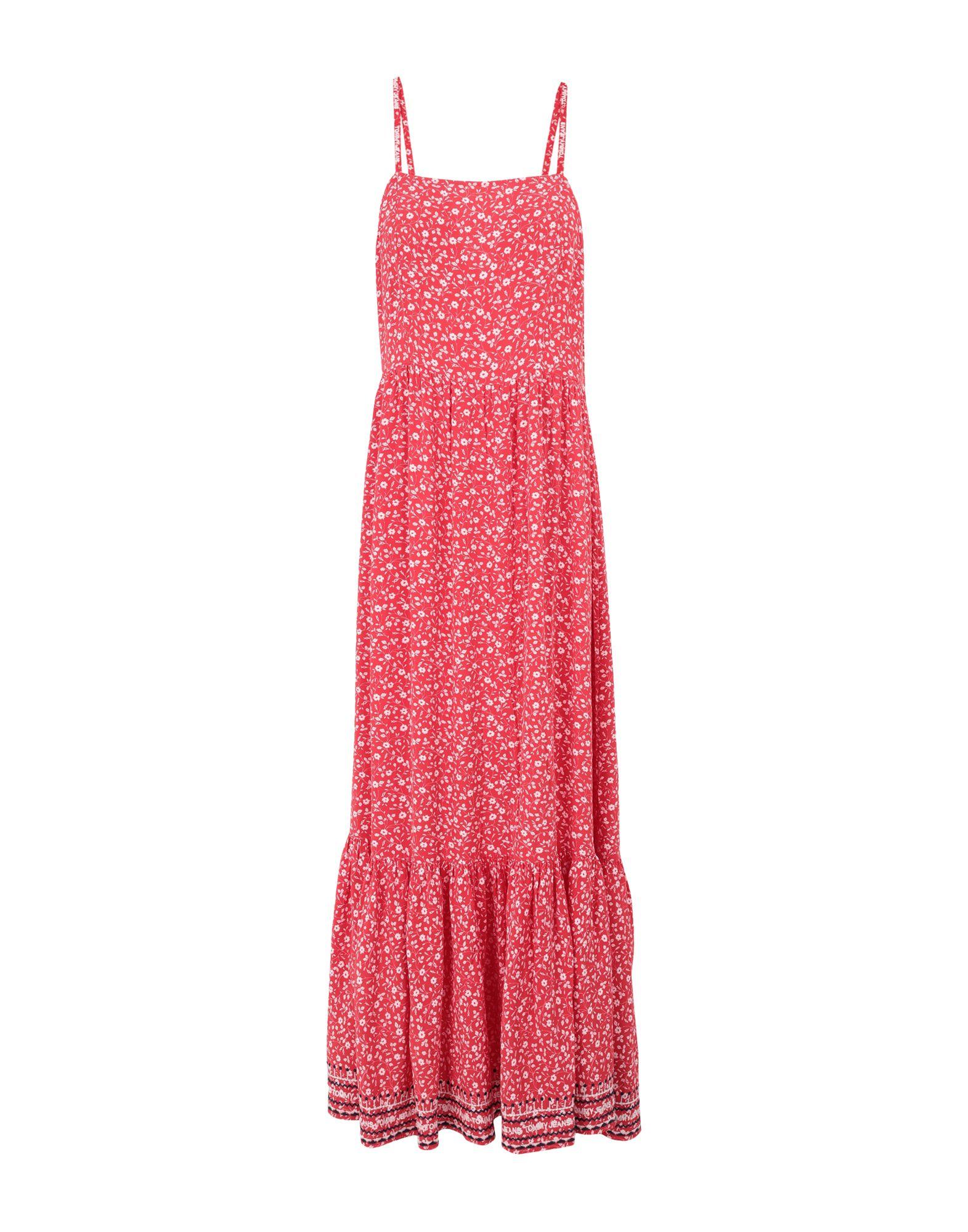 Фото - TOMMY JEANS Платье длиной 3/4 платье tommy jeans dw0dw07907 c87 twilight navy