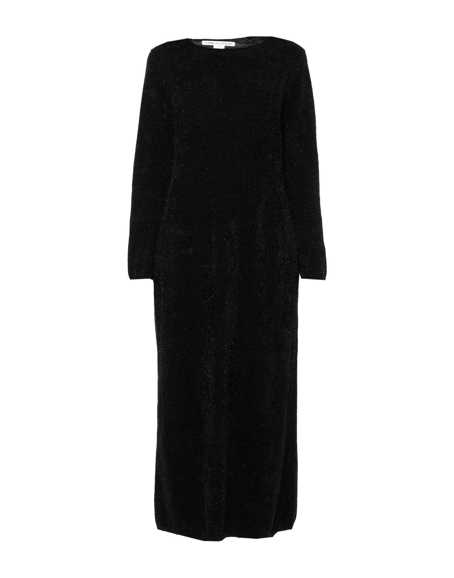 《セール開催中》COMME des GAR?ONS レディース ロングワンピース&ドレス ブラック M ナイロン 54% / キュプラ 46%