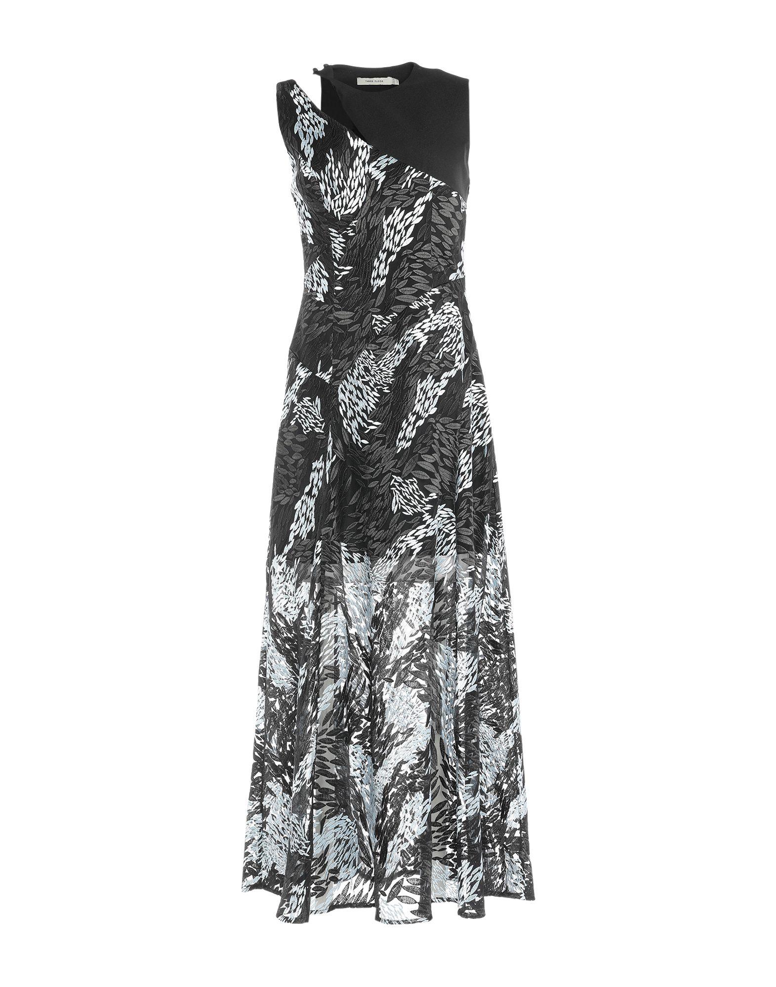 THREE FLOOR Длинное платье three dots платье без рукавов