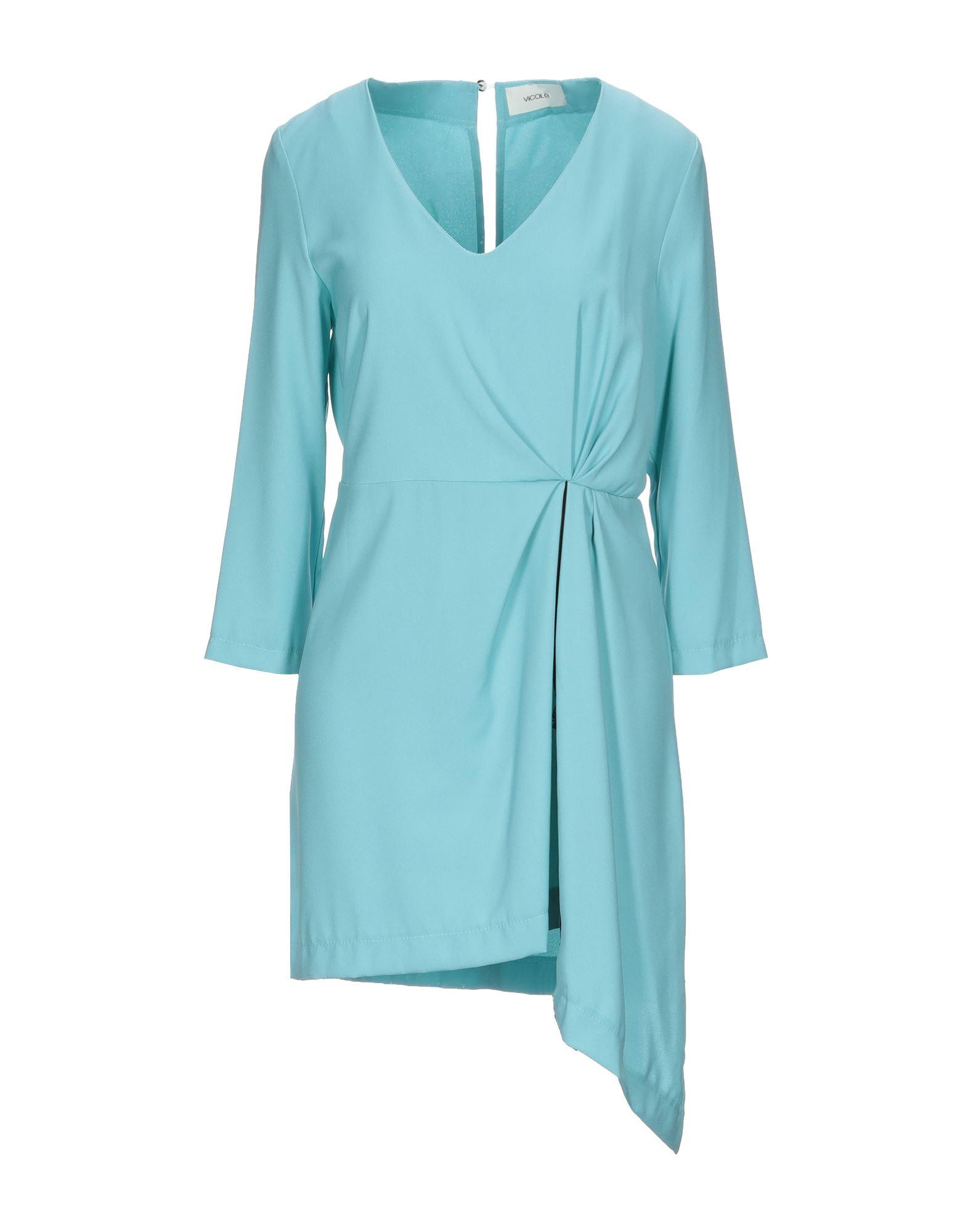 《セール開催中》VICOLO レディース ミニワンピース&ドレス ライトグリーン L ポリエステル 100%