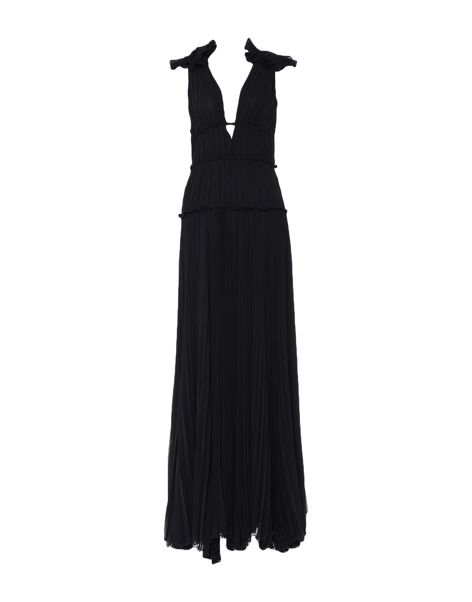 《セール開催中》BABYLON レディース ロングワンピース&ドレス ブラック 42 ポリエステル 100%
