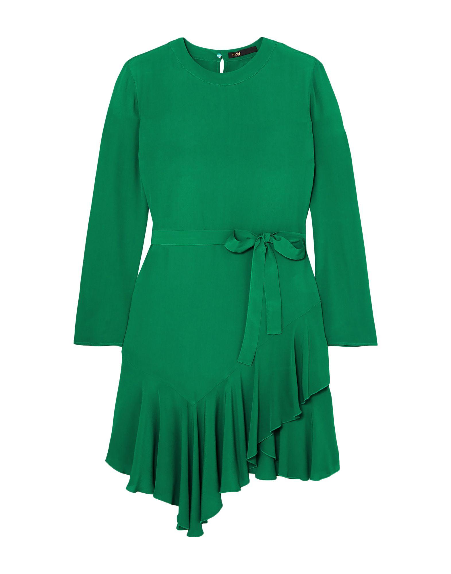 《セール開催中》MAJE レディース ミニワンピース&ドレス グリーン 3 レーヨン 100%