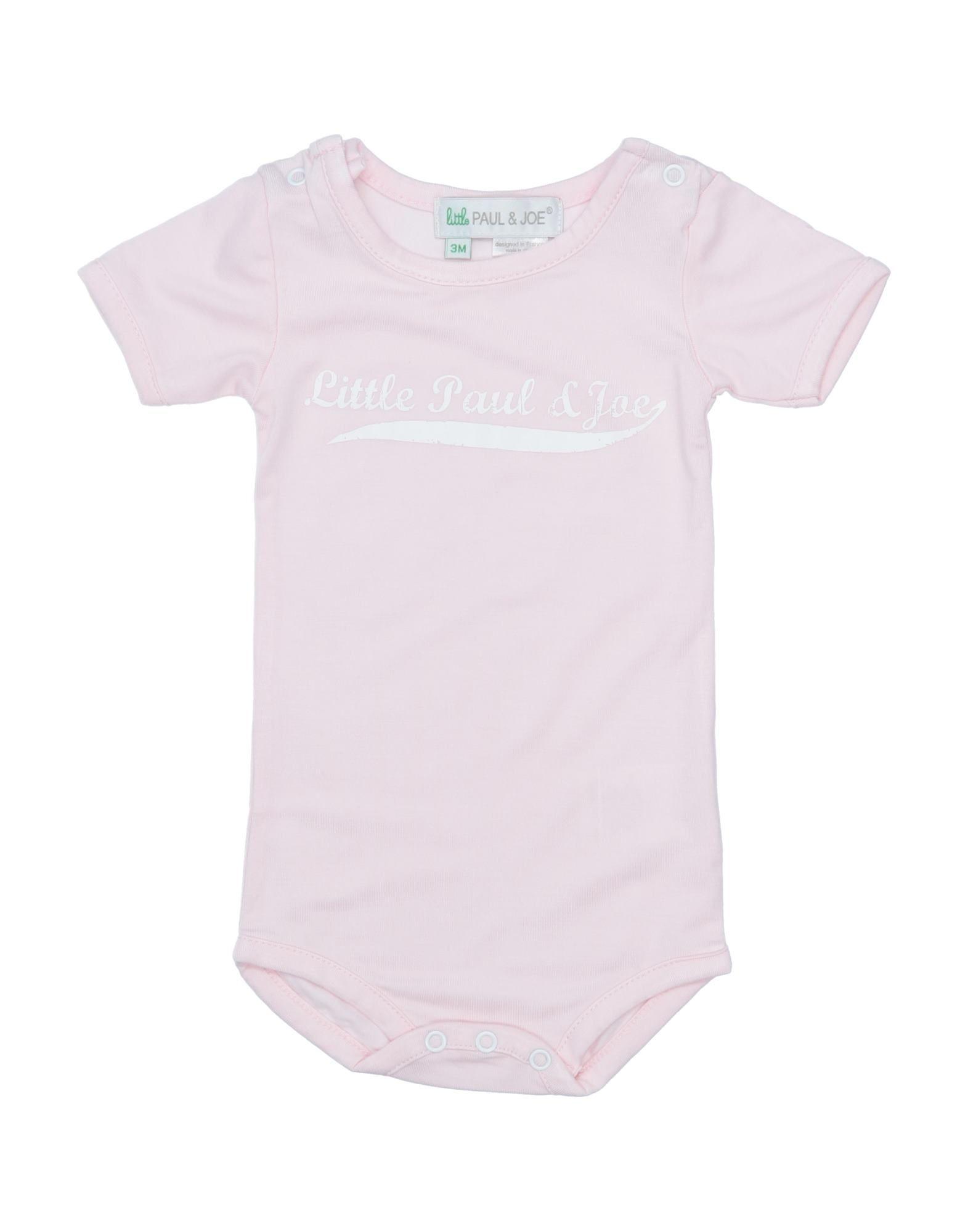 Little Paul & Joe Babies' Bodysuits In Pink