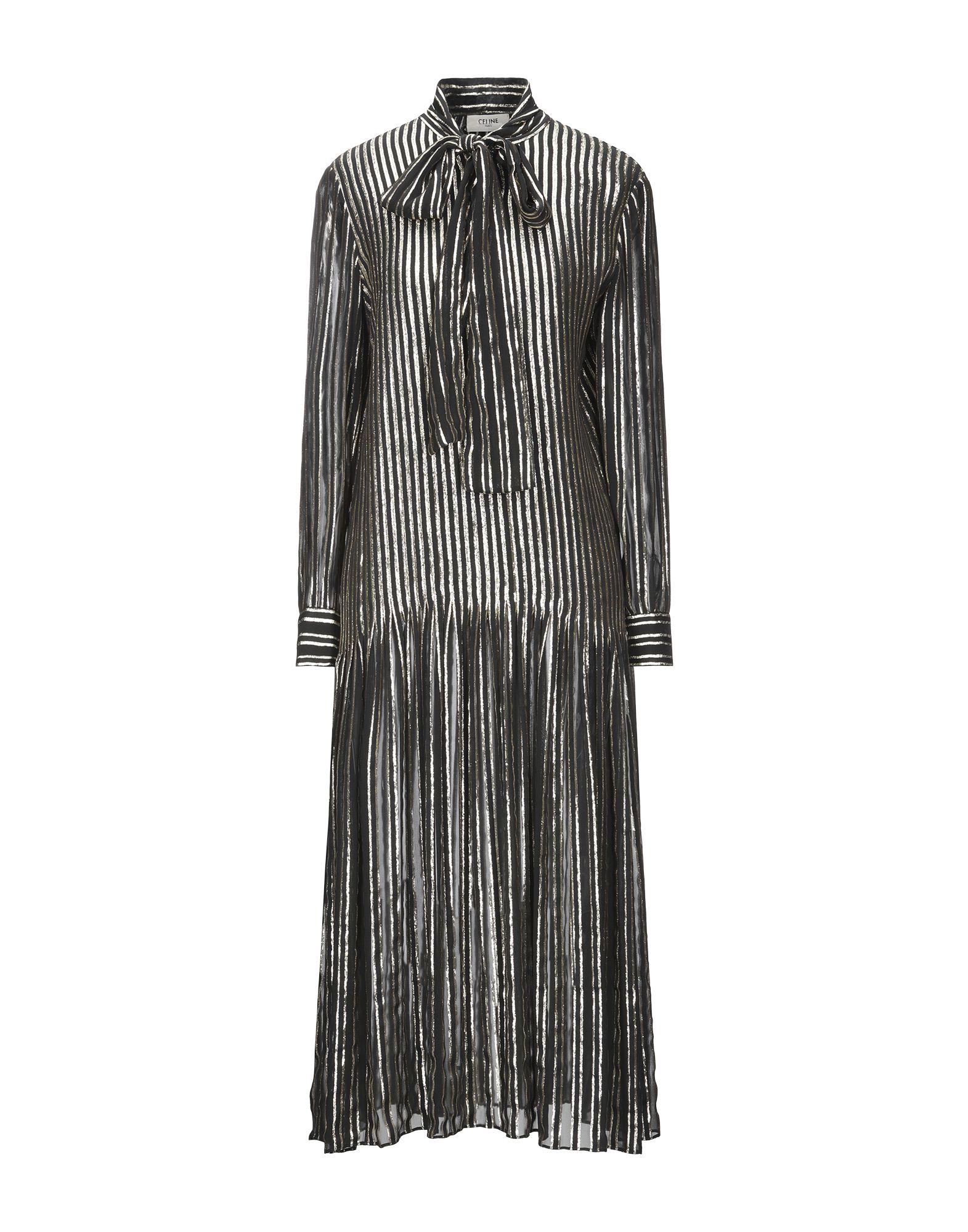 CELINE Платье длиной 3/4 bonpoint хлопковое синее платье celine