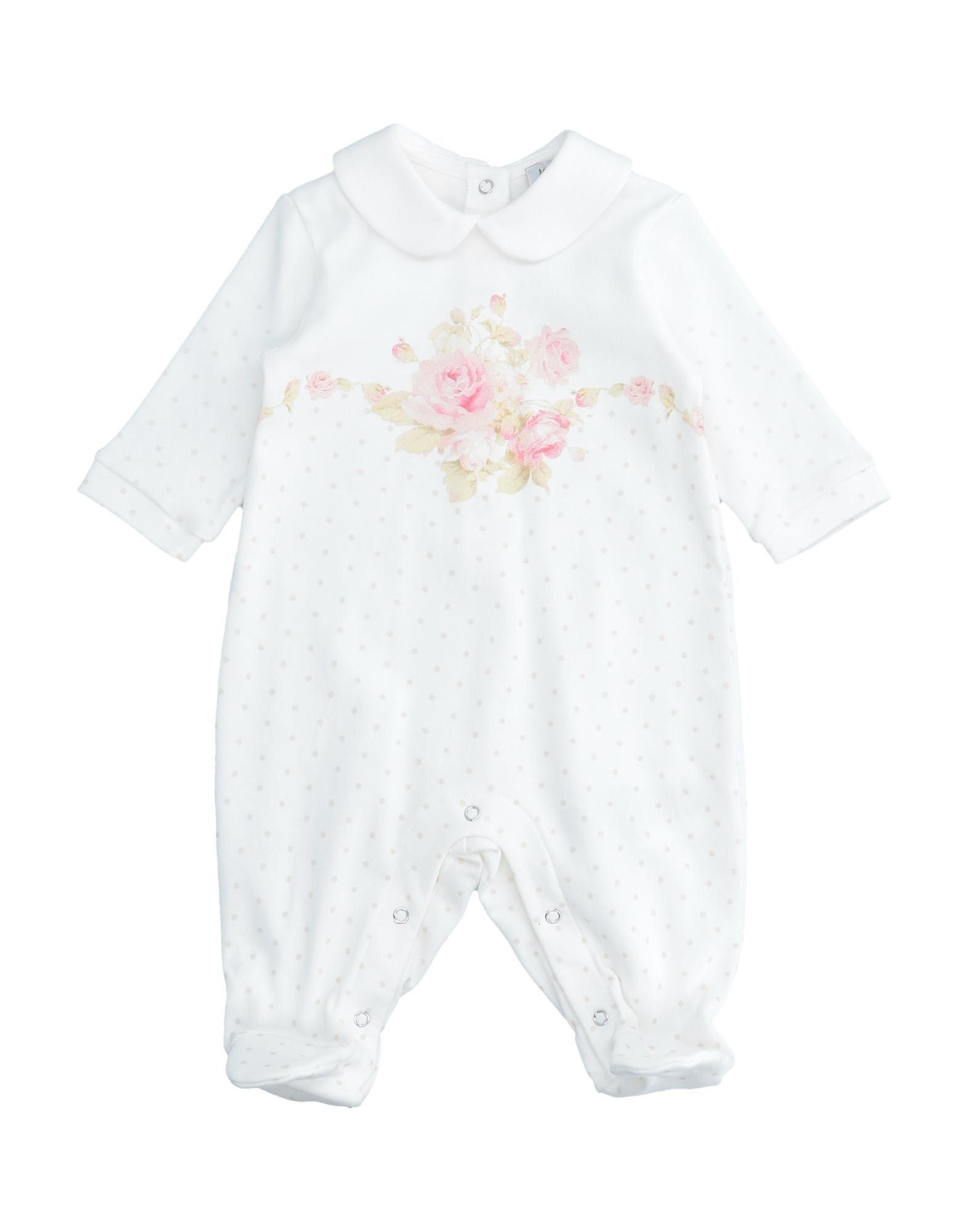 YOOX.COM(ユークス)《セール開催中》MONNALISA ガールズ 0-24 ヶ月 乳幼児用ロンパース ホワイト 6 コットン 100%