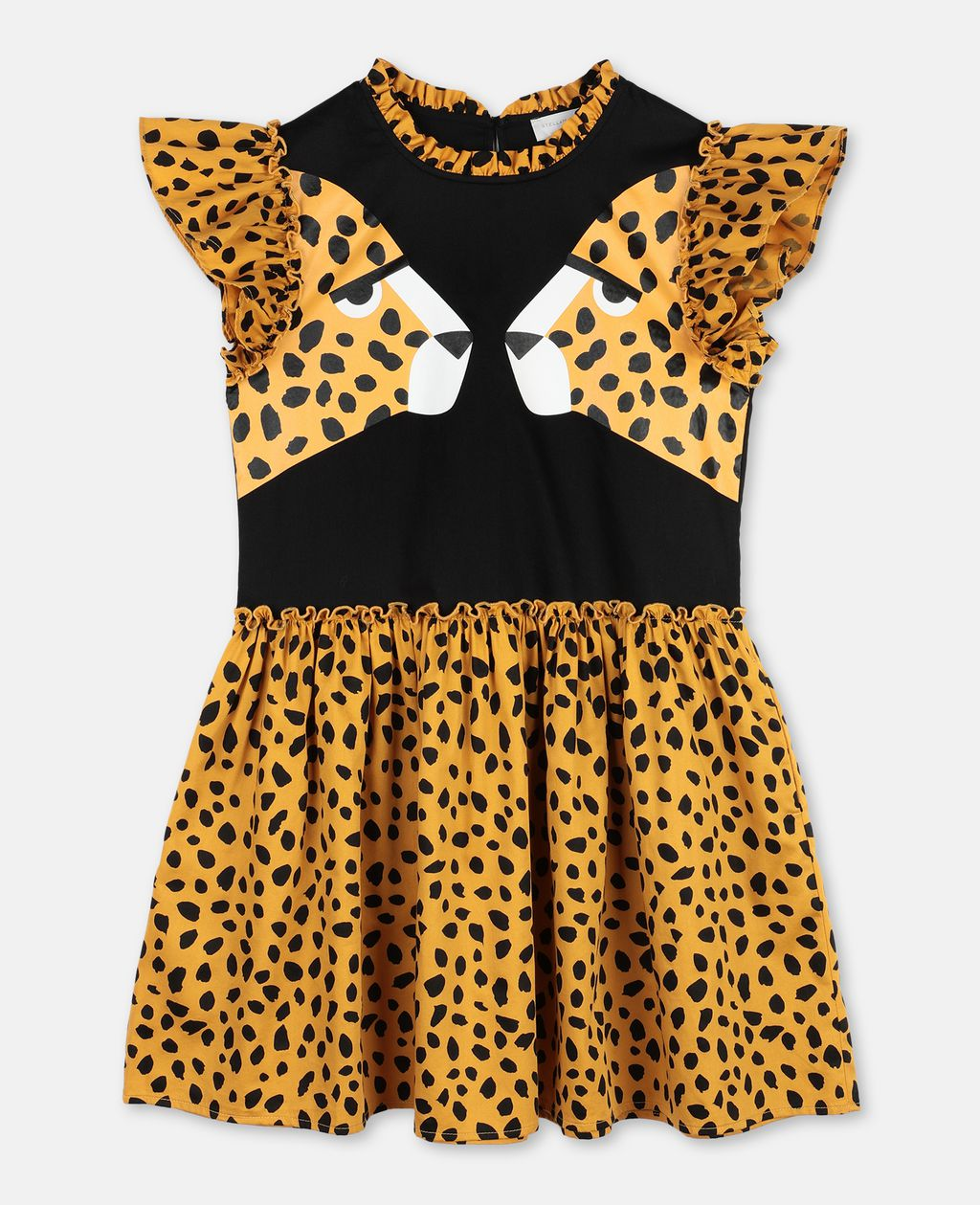 Stella Mccartney STELLA MCCARTNEY KIDS CHEETAH COTTON DRESS