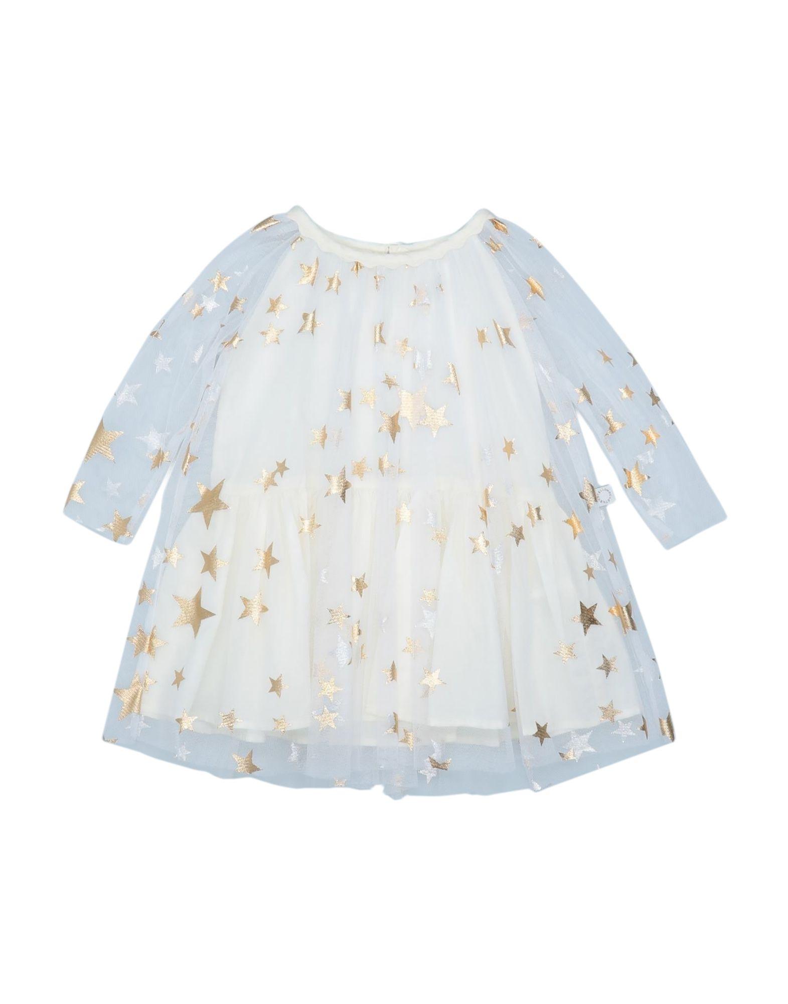 《セール開催中》STELLA McCARTNEY KIDS ガールズ 3-8 歳 ワンピース&ドレス ホワイト 4 ポリエステル 100%