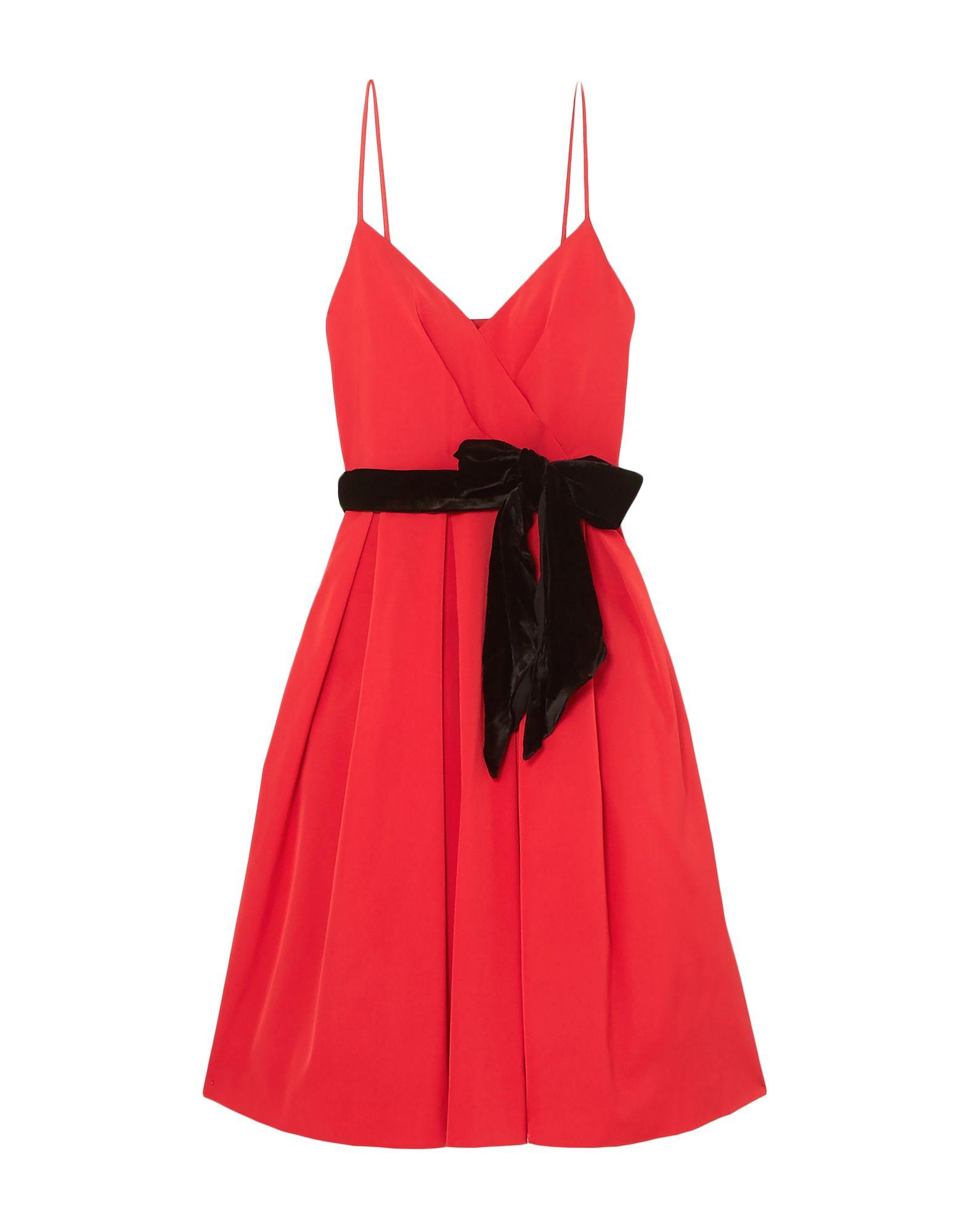 J.CREW 3/4 length dresses. grosgrain, folds, belt, basic solid color, v-neck, sleeveless, no pockets, rear closure, zipper closure, multi-layered interior, stretch. 72% Acetate, 25% Nylon, 3% Elastane