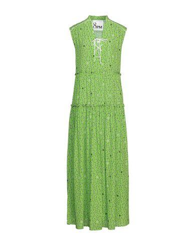 Длинное платье 8PM. Цвет: светло-зеленый