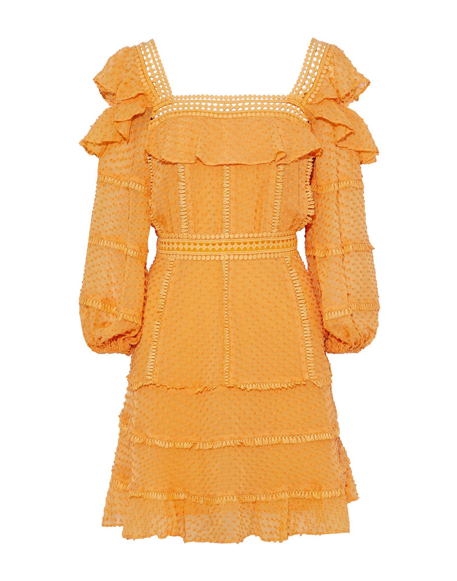 《セール開催中》RACHEL GILBERT レディース ミニワンピース&ドレス あんず色 0 シルク 75% / コットン 25%