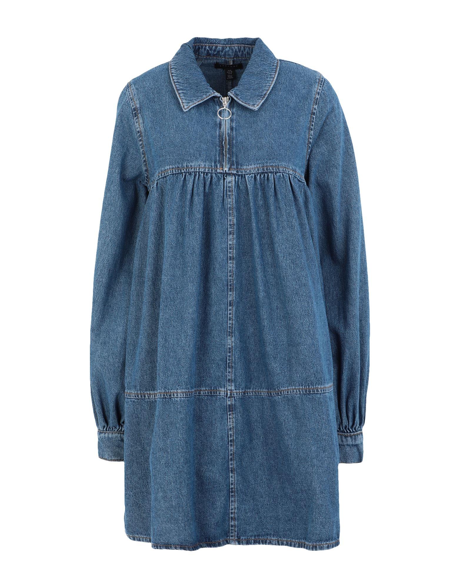TOPSHOP トップショップ レディース ミニワンピース&ドレス MID BLUE BABYDOLL DRESS ブルー