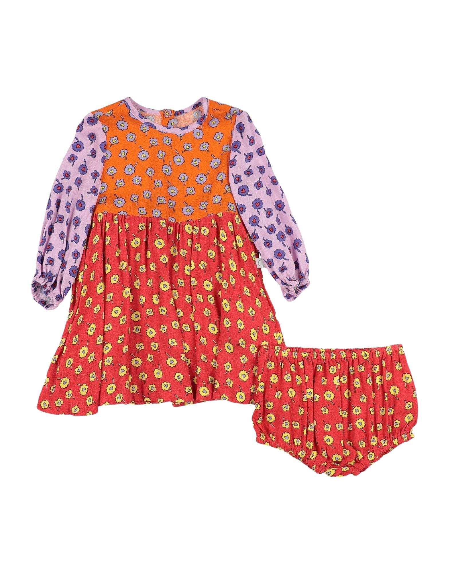 《セール開催中》STELLA McCARTNEY KIDS ガールズ 0-24 ヶ月 ワンピース・ドレス レッド 9 レーヨン 100%