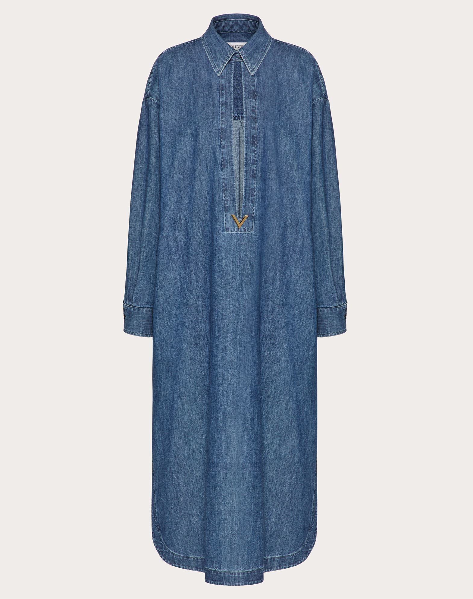 Valentino VALENTINO VGOLD DENIM CHAMBRAY LONG KAFTAN