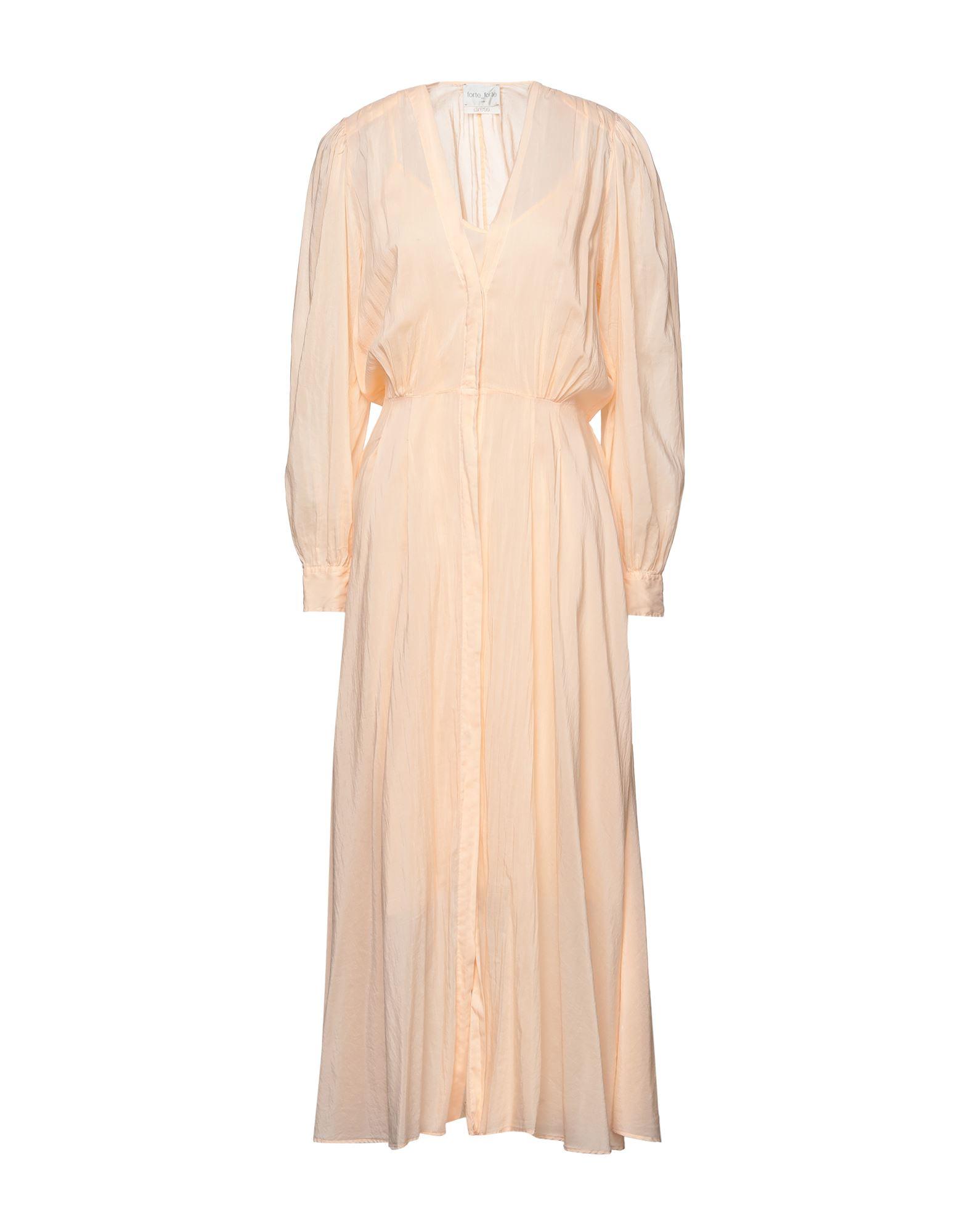 《セール開催中》FORTE_FORTE レディース ロングワンピース&ドレス あんず色 3 コットン 70% / シルク 30%