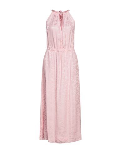 Длинное платье 8PM. Цвет: розовый