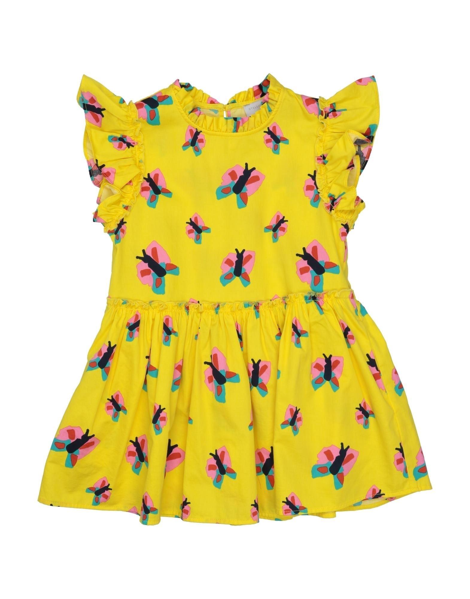 《セール開催中》STELLA McCARTNEY KIDS ガールズ 3-8 歳 ワンピース&ドレス イエロー 3 コットン 100%