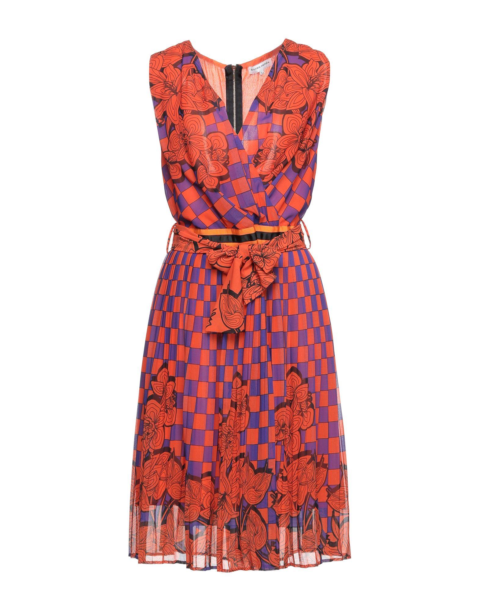 платье silvian heach silvian heach si386ewekpf2 SILVIAN HEACH Платье миди