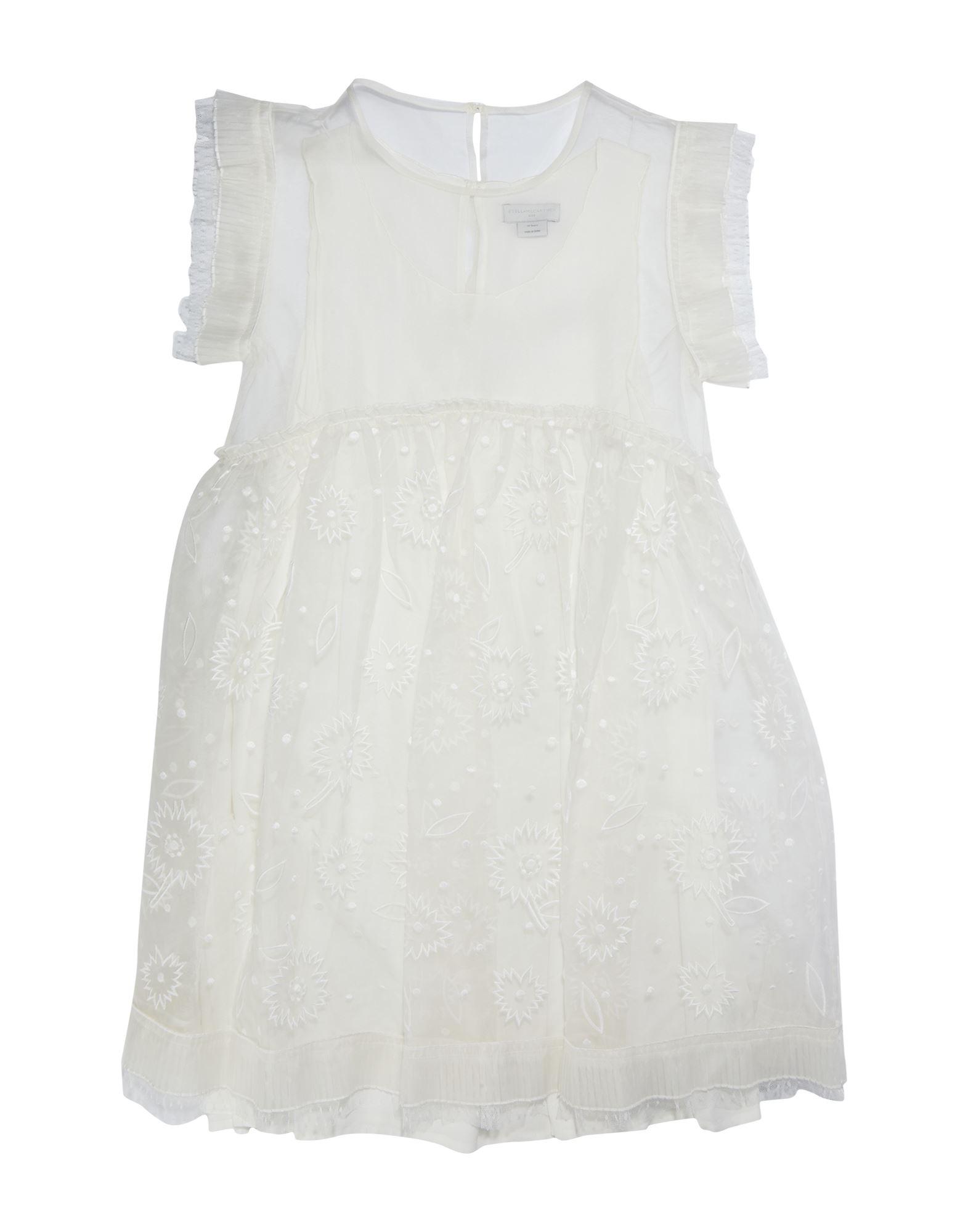 《セール開催中》STELLA McCARTNEY KIDS ガールズ 9-16 歳 ワンピース&ドレス ホワイト 10 シルク 100%