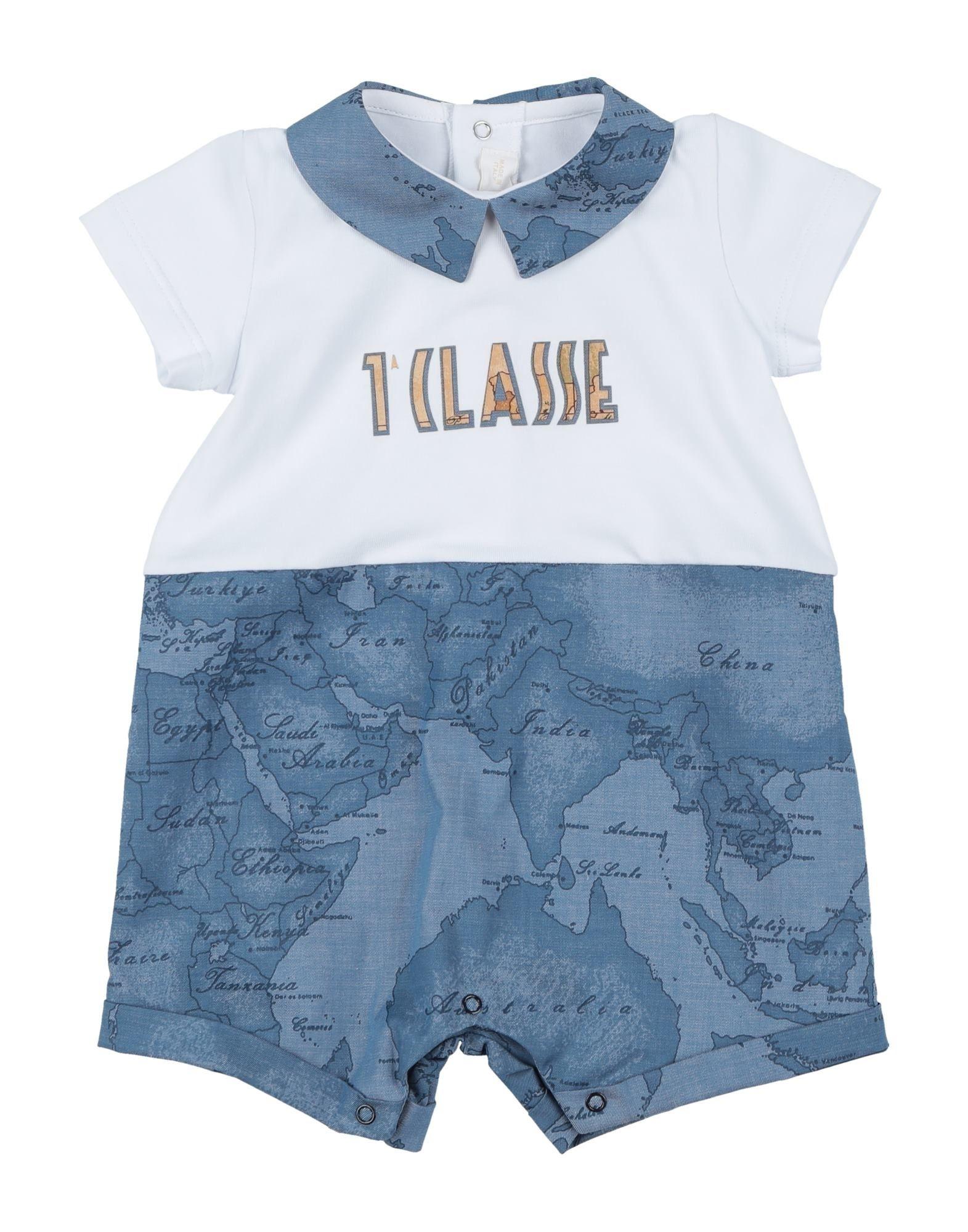 《セール開催中》ALVIERO MARTINI 1a CLASSE ボーイズ 0-24 ヶ月 乳幼児用ロンパース ブルーグレー 1 コットン 95% / ポリウレタン 5%