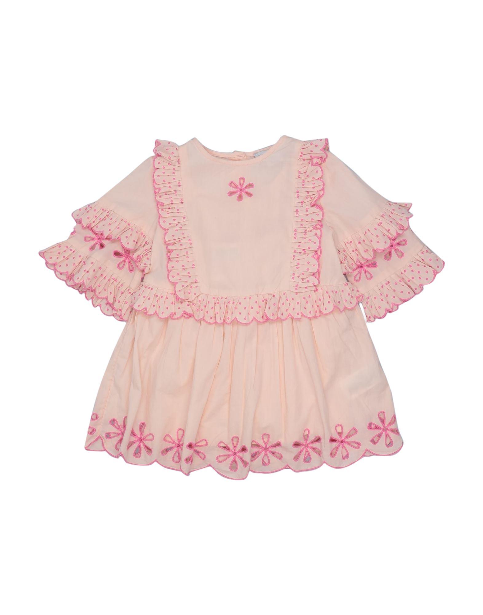 《セール開催中》STELLA McCARTNEY KIDS ガールズ 0-24 ヶ月 ワンピース・ドレス ピンク 24 コットン 100%