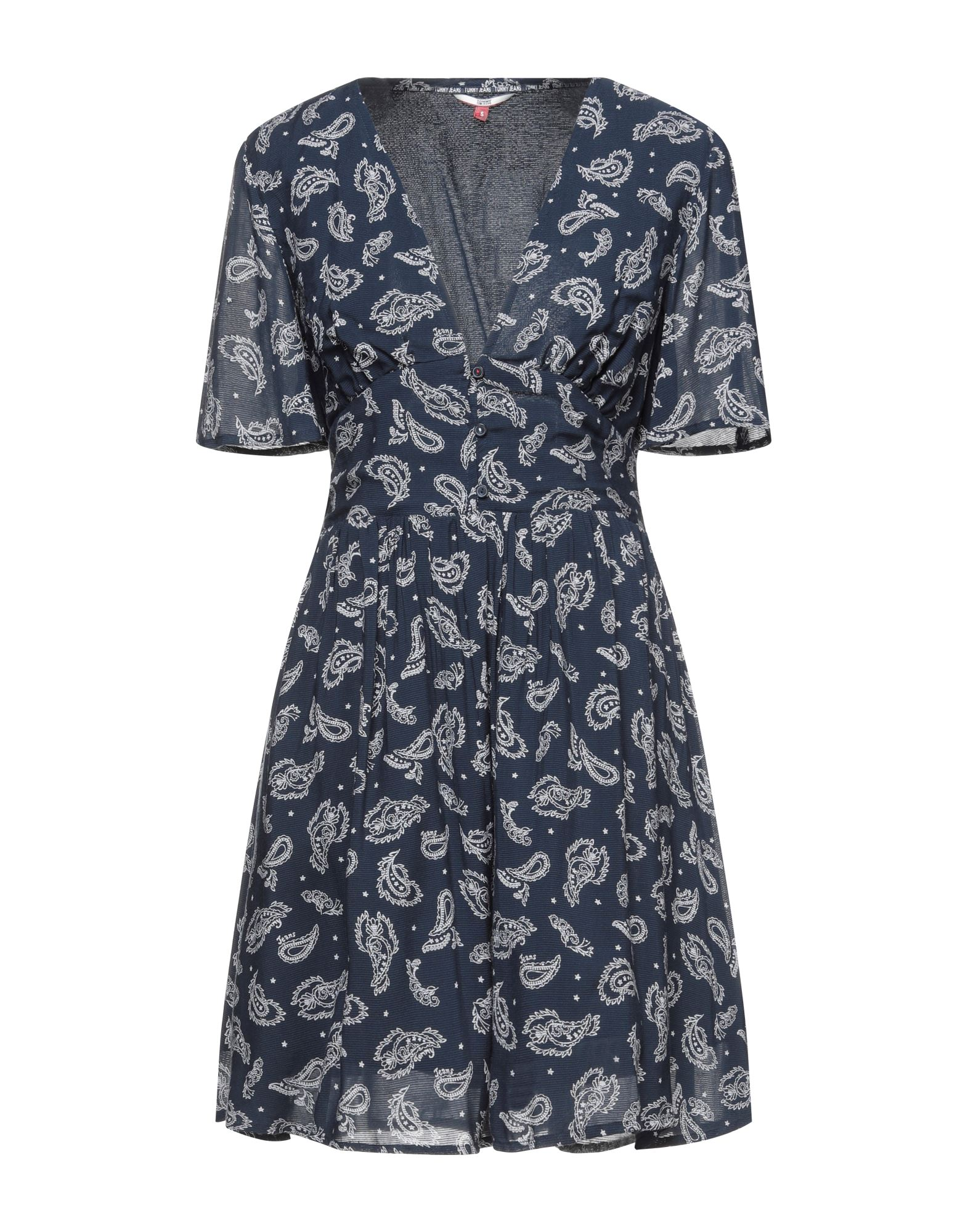 Фото - TOMMY JEANS Короткое платье платье tommy jeans dw0dw07907 c87 twilight navy