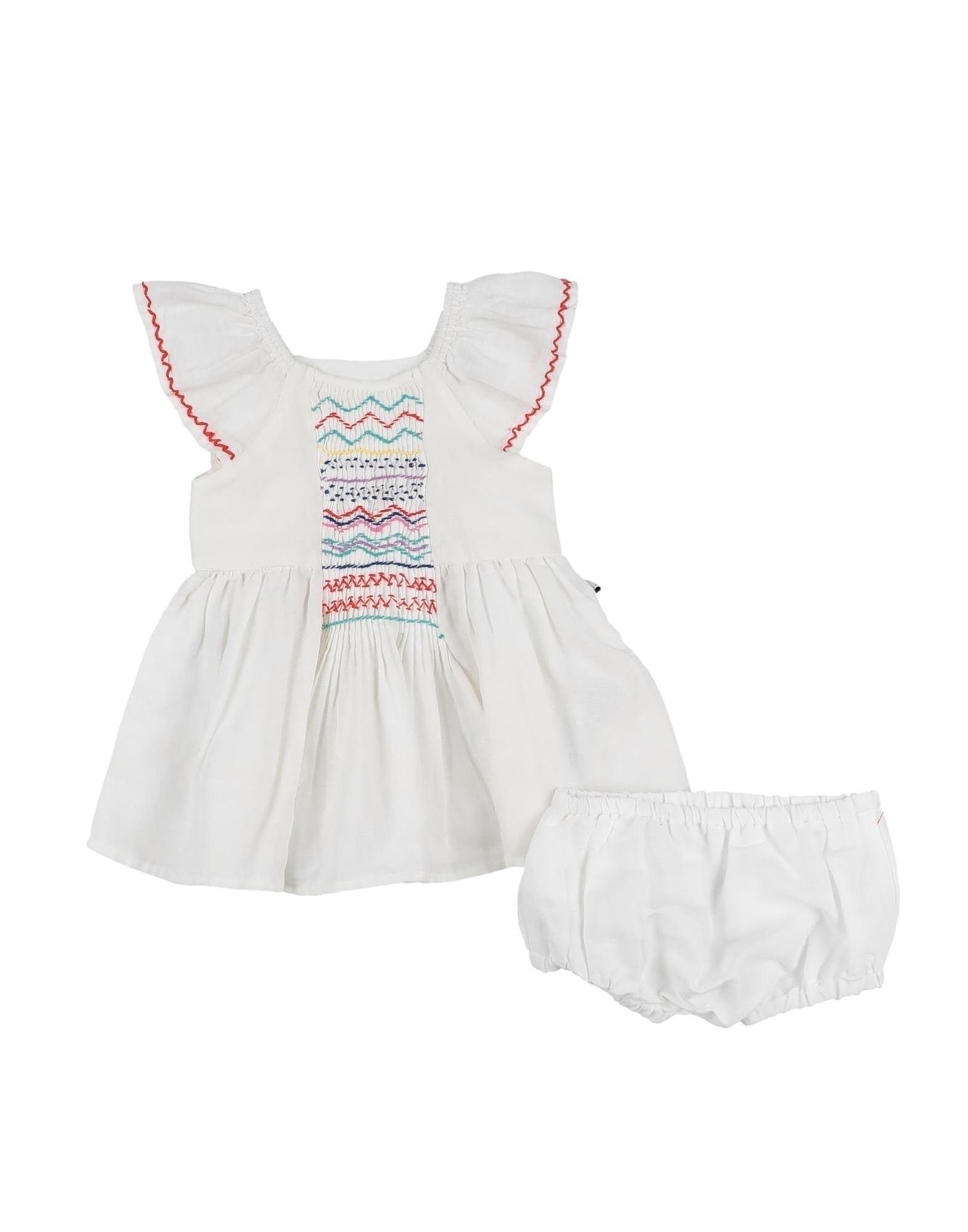 《セール開催中》STELLA McCARTNEY KIDS ガールズ 0-24 ヶ月 ワンピース・ドレス ホワイト 6 リネン 55% / コットン 45%