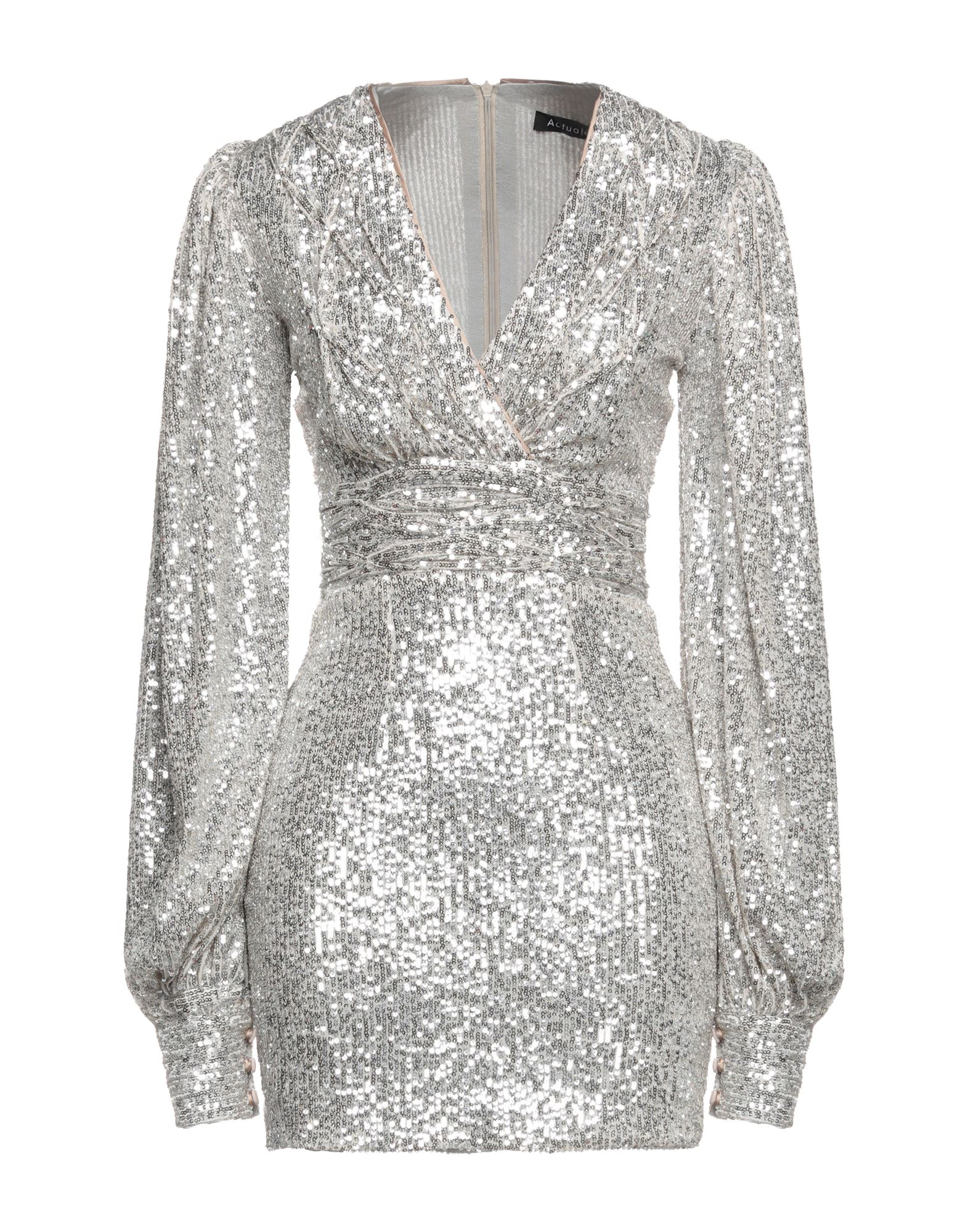 Actualee Short Dresses In Silver