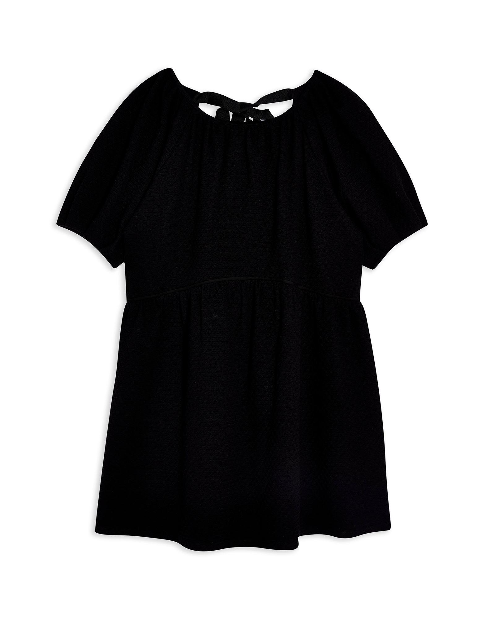 TOPSHOP トップショップ レディース ミニワンピース&ドレス TEXTURED BABYDOLL ブラック